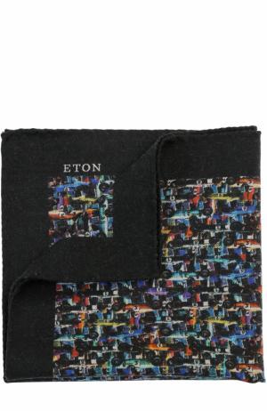 Шерстяной платок с принтом Eton. Цвет: разноцветный