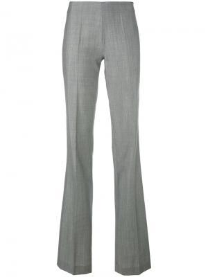 Строгие брюки клеш Antonio Berardi. Цвет: серый