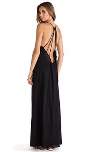 Макси платье st. barts Issa de mar de'. Цвет: черный