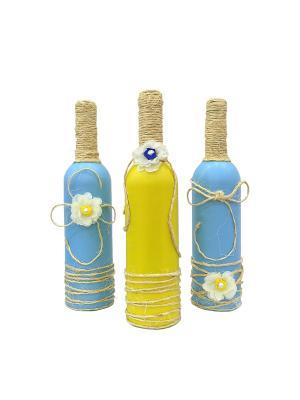 Бутылки интерьерные 3 шт. KONONO. Цвет: сиреневый