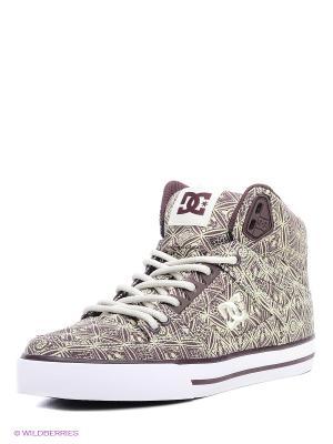 Кеды DC Shoes. Цвет: белый, бордовый