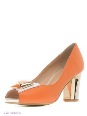 Туфли Moda Donna. Цвет: оранжевый