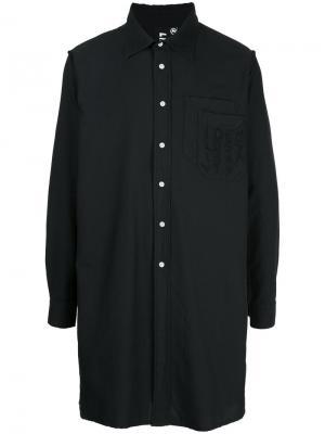 Удлиненная рубашка Liam Hodges. Цвет: чёрный