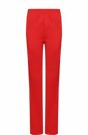 Брюки прямого кроя с карманами и эластичным поясом Givenchy. Цвет: красный