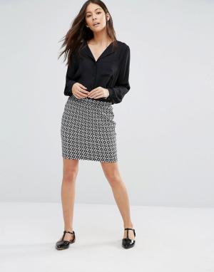 Unique 21 Трикотажная облегающая юбка. Цвет: черный
