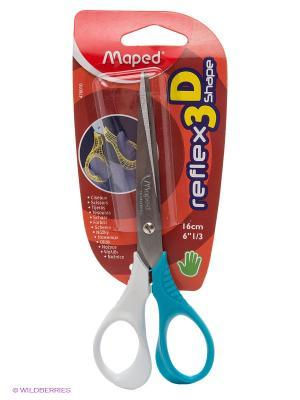 Ножницы, 16 см Maped. Цвет: голубой