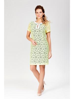 Платье Amelia Lux. Цвет: желтый, синий