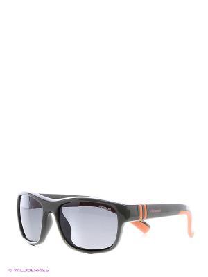 Солнцезащитные очки Polaroid. Цвет: черный, темно-зеленый