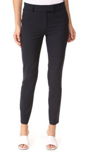 Узкие брюки-дудочки Veronica Beard. Цвет: темно-синий