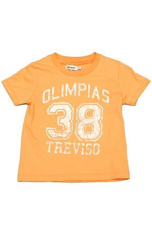 Футболка Olimpias. Цвет: оранжевый