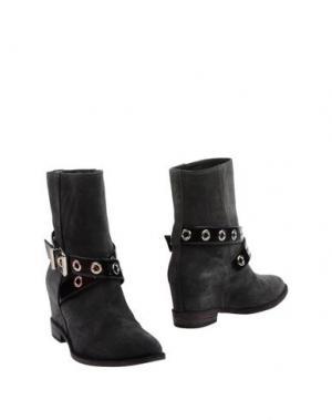 Полусапоги и высокие ботинки LELLA BALDI. Цвет: стальной серый