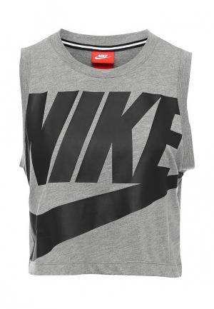 Топ Nike. Цвет: серый