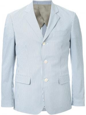 Пиджак в полоску Mr. Gentleman. Цвет: синий