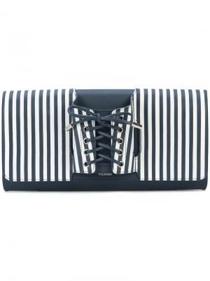 Клатч со шнурованной перчаткой Perrin Paris. Цвет: синий