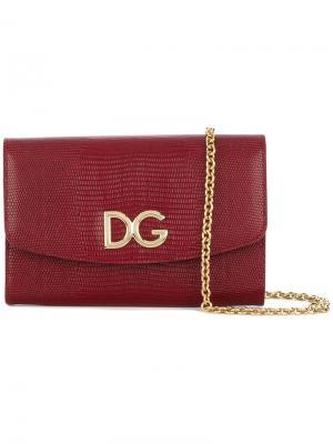 Кошелек-сумка через плечо Dolce & Gabbana. Цвет: красный