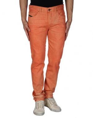 Джинсовые брюки DIESEL BLACK GOLD. Цвет: лососево-розовый