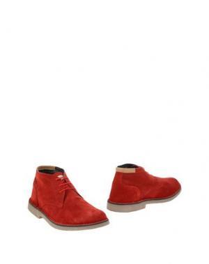 Полусапоги и высокие ботинки ANGELO NARDELLI. Цвет: кирпично-красный