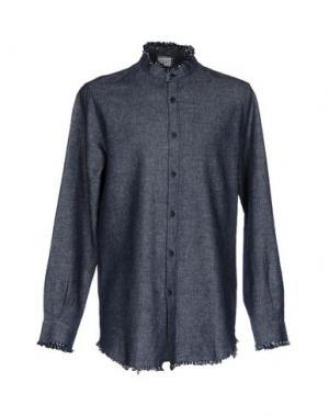 Джинсовая рубашка C.Y.H. CLAP YOUR HAND. Цвет: синий