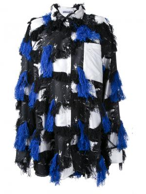 Oversized patched tassel shirt Mikio Sakabe. Цвет: чёрный