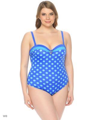 Слитный купальник AIRIDACO. Цвет: синий, голубой
