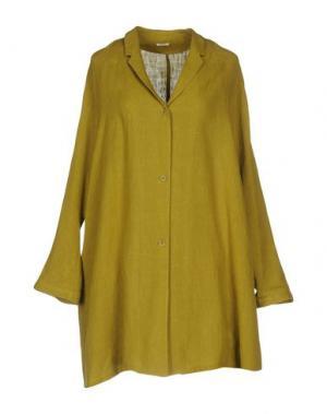 Легкое пальто A.B APUNTOB. Цвет: кислотно-зеленый