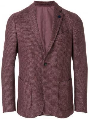 Однобортный пиджак Lardini. Цвет: розовый и фиолетовый