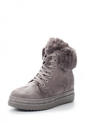 Ботильоны Ideal Shoes. Цвет: серый