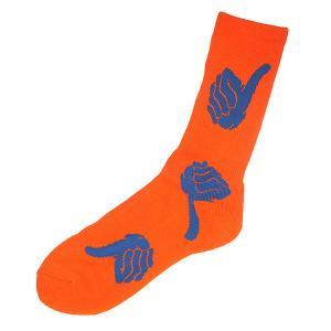 Носки  Thumbs Up Sock Orange Bro Style. Цвет: оранжевый,синий