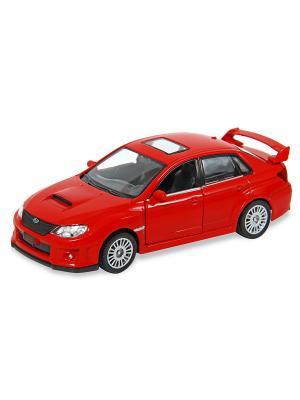 Машина металлическая Subaru WRX STI, 1:32. HOFFMANN. Цвет: красный