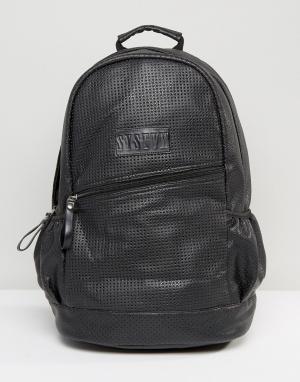 Systvm Черный рюкзак с перфорацией. Цвет: черный