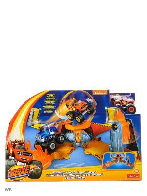 Вспыш: Игровой набор Прыжок через пылающий вулкан Mattel. Цвет: синий