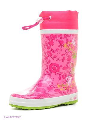 Резиновые сапоги Котофей. Цвет: розовый