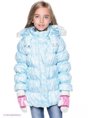 Куртка PlayToday. Цвет: голубой, белый