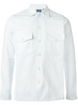 Рубашка с нагрудными карманами Blue Japan. Цвет: белый
