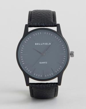 Bellfield Черные часы с круглым циферблатом. Цвет: черный