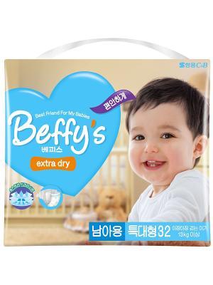 Подгузники Beffys extra dry для мальчиков размер XL (более 13 кг.) 32 шт. Beffy's. Цвет: синий