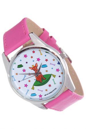 Часы Королева песиков MITYA VESELKOV. Цвет: белый, коричневый