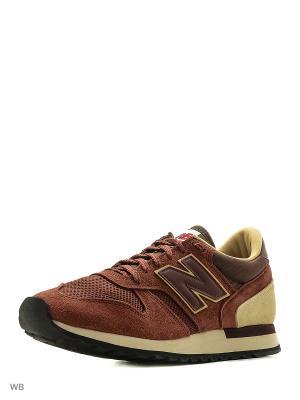 Кроссовки New balance 770. Цвет: темно-красный