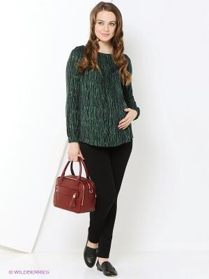 Блузка MammySize. Цвет: зеленый