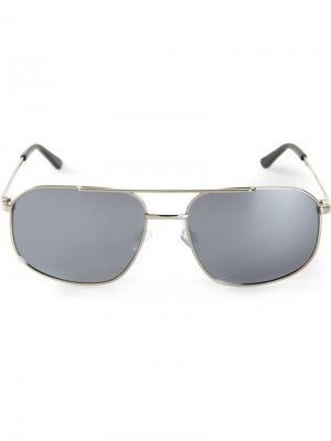 Солнцезащитные очки-авиаторы Selima Optique. Цвет: металлический