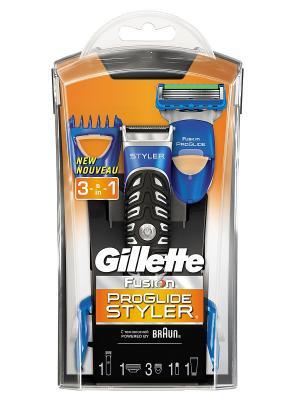 Стайлер FUSION ProGlide Styler, для моделирования бороды и усов GILLETTE. Цвет: синий