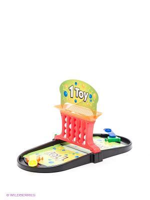 Игра настольная 2 в 1 Пинбол/Баскет-линии 1Toy. Цвет: красный, черный, зеленый
