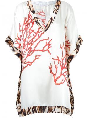 Пляжное платье с V-образным вырезом Brigitte. Цвет: белый