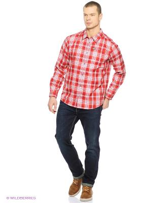 Рубашка GIFFORD SHIRT MEN Jack Wolfskin. Цвет: красный