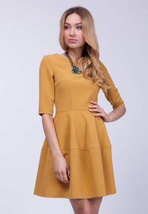 Платье Vladi Collection. Цвет: желтый