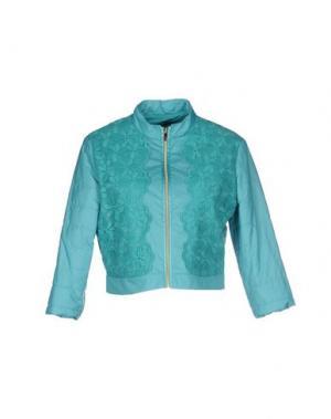 Куртка HANITA. Цвет: бирюзовый