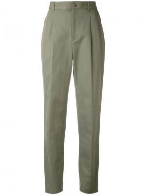 Плиссированные брюки A.P.C.. Цвет: зелёный