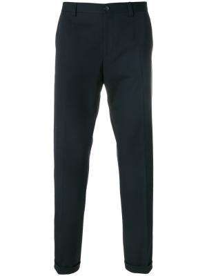 Классические брюки Dolce & Gabbana. Цвет: синий