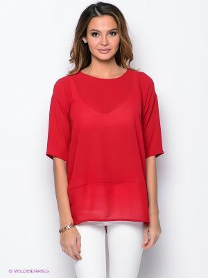 Блузка PROFITO AVANTAGE. Цвет: красный