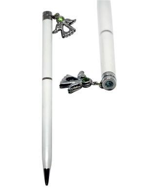 Ручка с ангелом CRYSTOCRAFT. Цвет: серебристый, белый